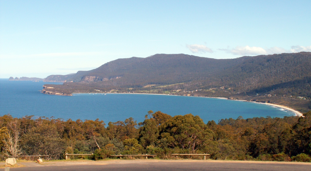 Eaglehawk Neck, Tasman Peninsula - the location of the Tasmanian Kaleidoscope Company